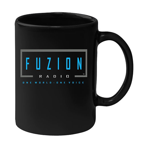 Fuzion Radio Coffee Mug Black