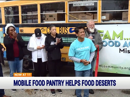 FAM (Food Access Mobile) Launches Transforming School Bus into Food Pantry