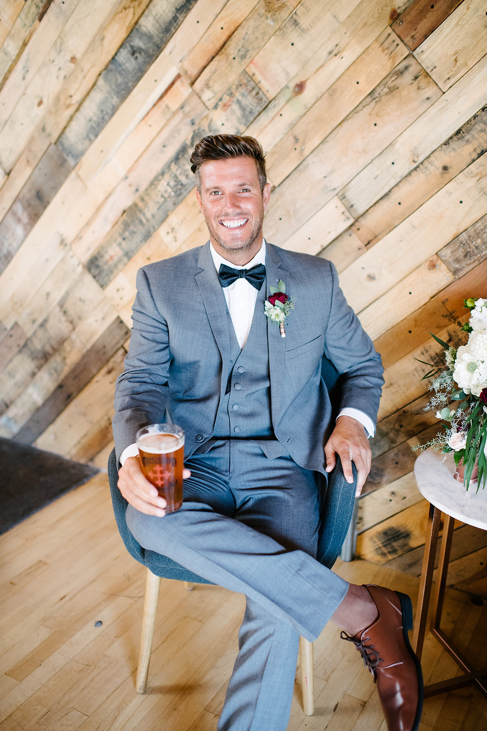 Industrial Winter Wedding At Mission Brewery in San Diego