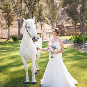 Romantic & Vintage Inspired Ranch Wedding