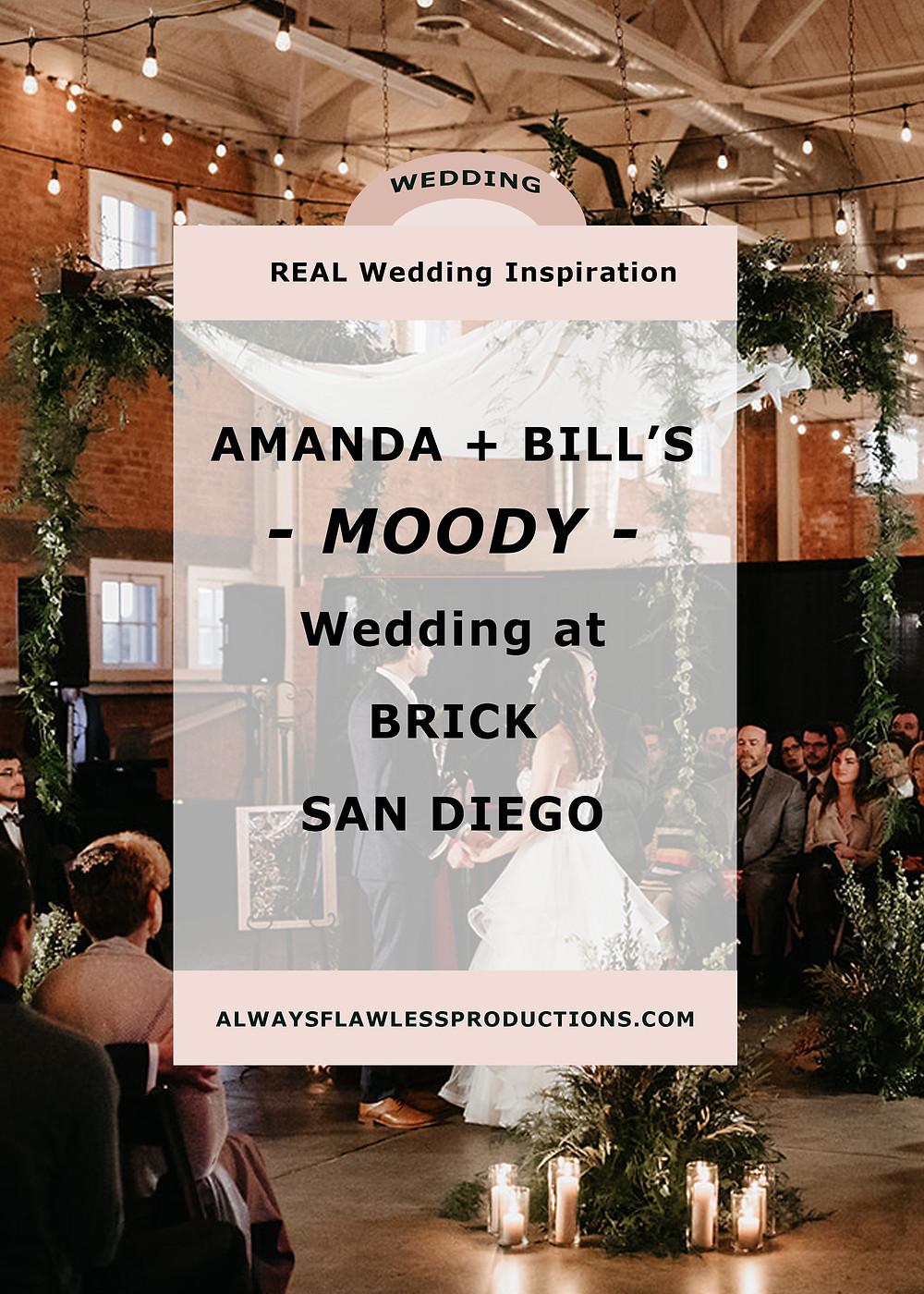 BRICK San Diego wedding