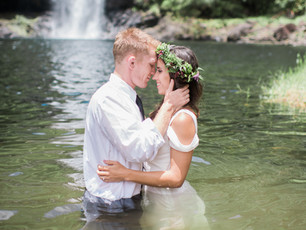 Trash The Dress: Ashley + Jeremy's Waterfall Session