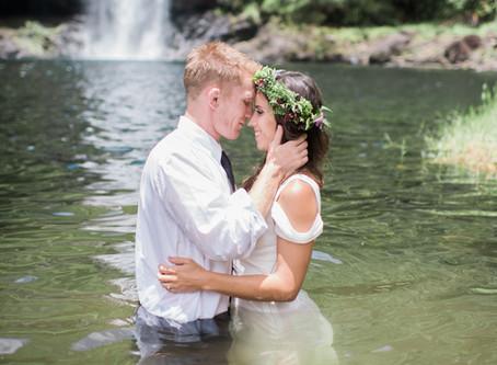 Trash The Dress: Ashley + Jeremy's Waterfall Session