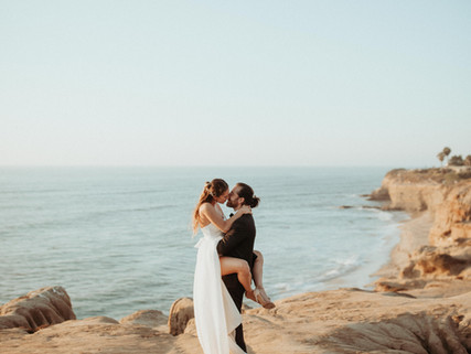 Valerie + Gilad's Sunset Cliffs Elopement Wedding in San Diego, CA