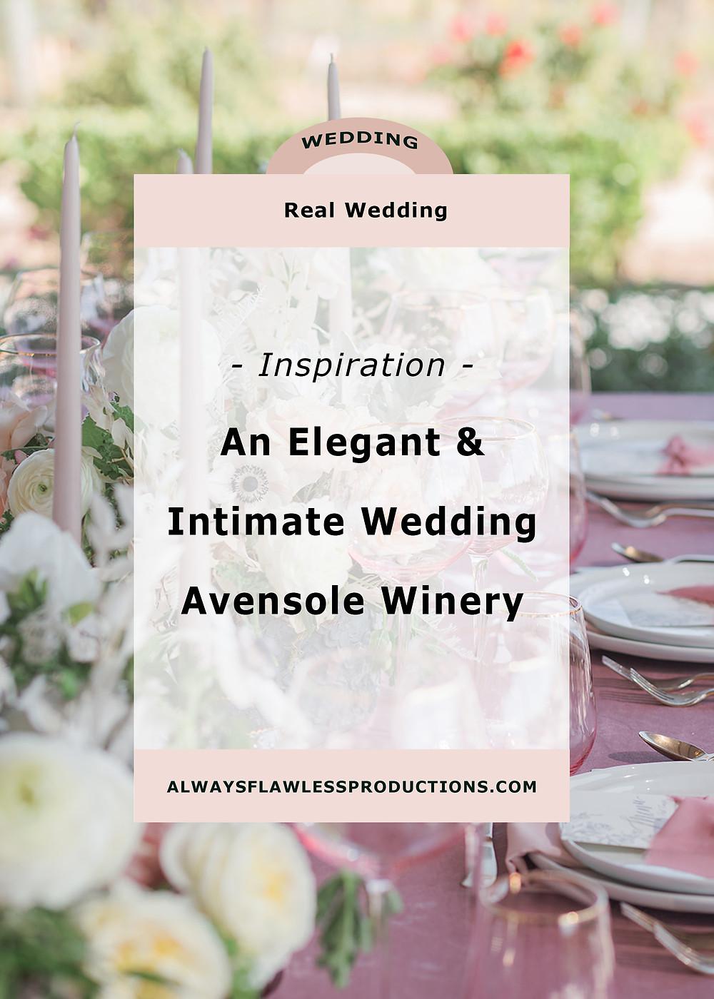 Avensole Winery wedding planning