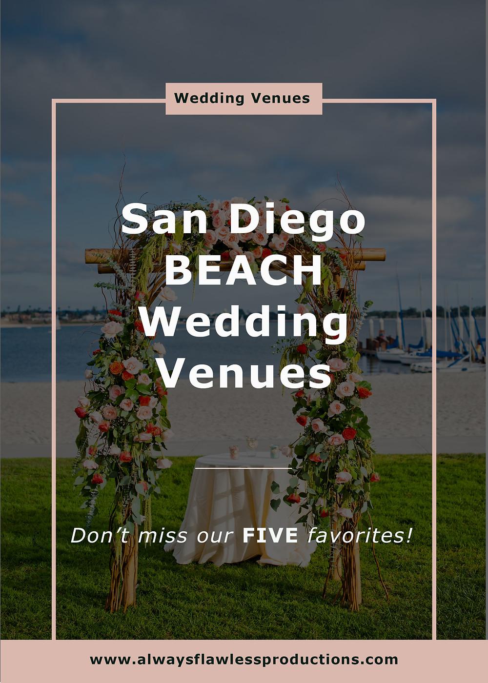 San Diego Wedding Venues - Beach Wedding Venues