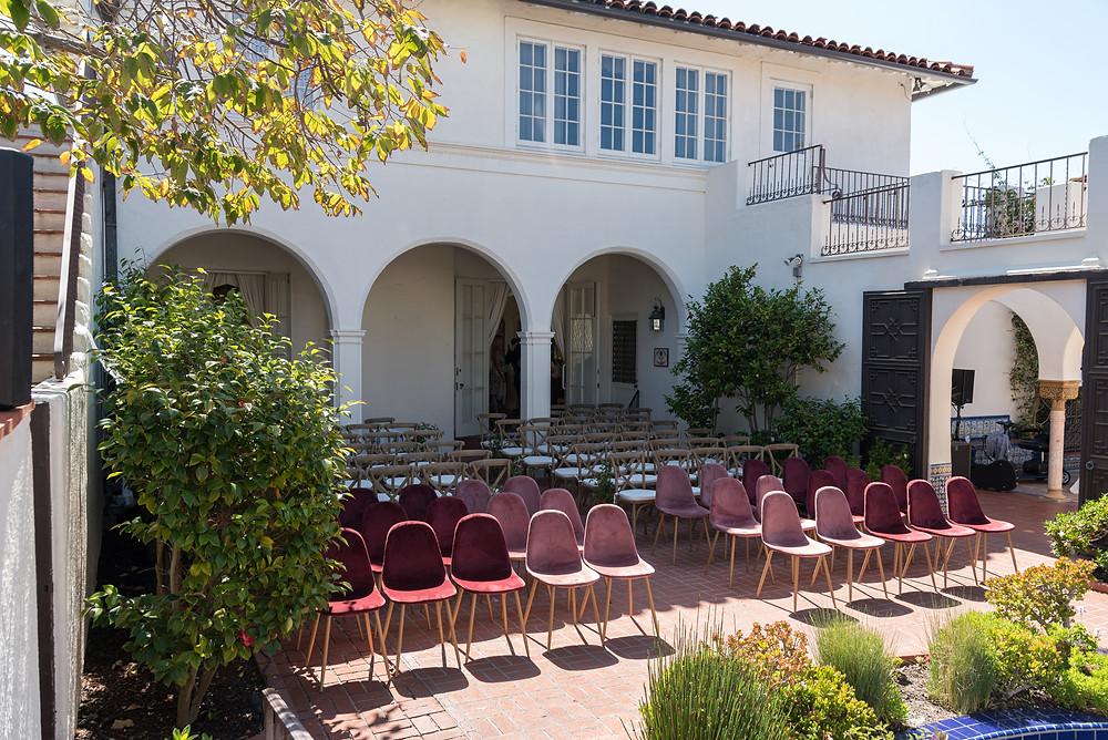 Darlington House wedding outdoor ceremony location