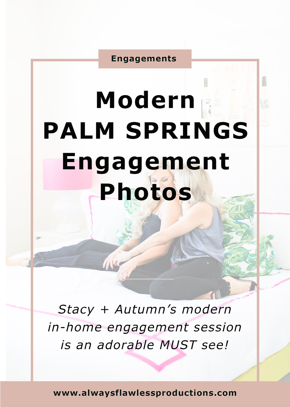 Engagement Photos: Modern Palm Springs Engagement Sess