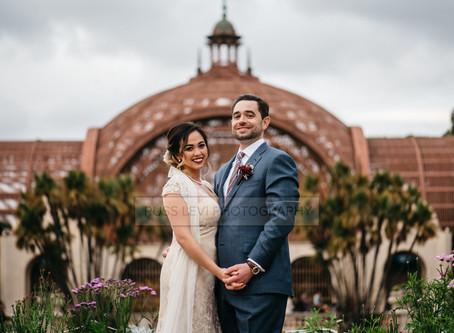 Sierra + Michael's Moody Wedding At The Museum Of Man in Balboa Park, San Diego, CA