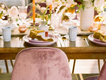 Modern Welcome Wedding Dinner