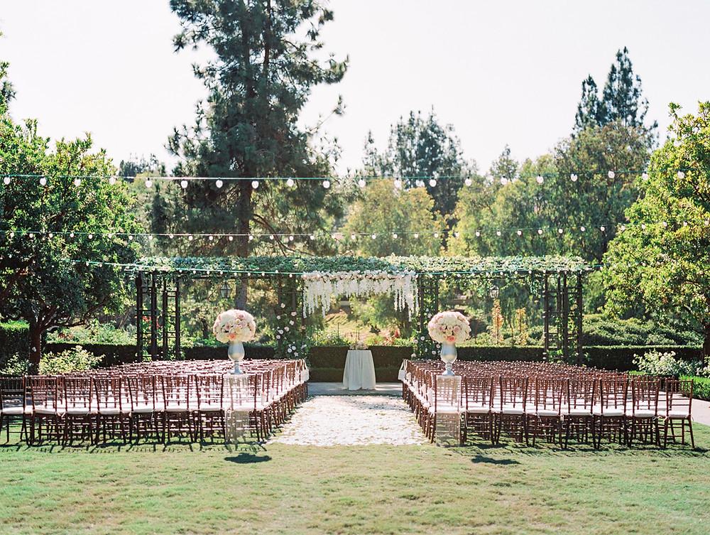 outdoor garden ceremony location for Rancho Bernardo Inn wedding