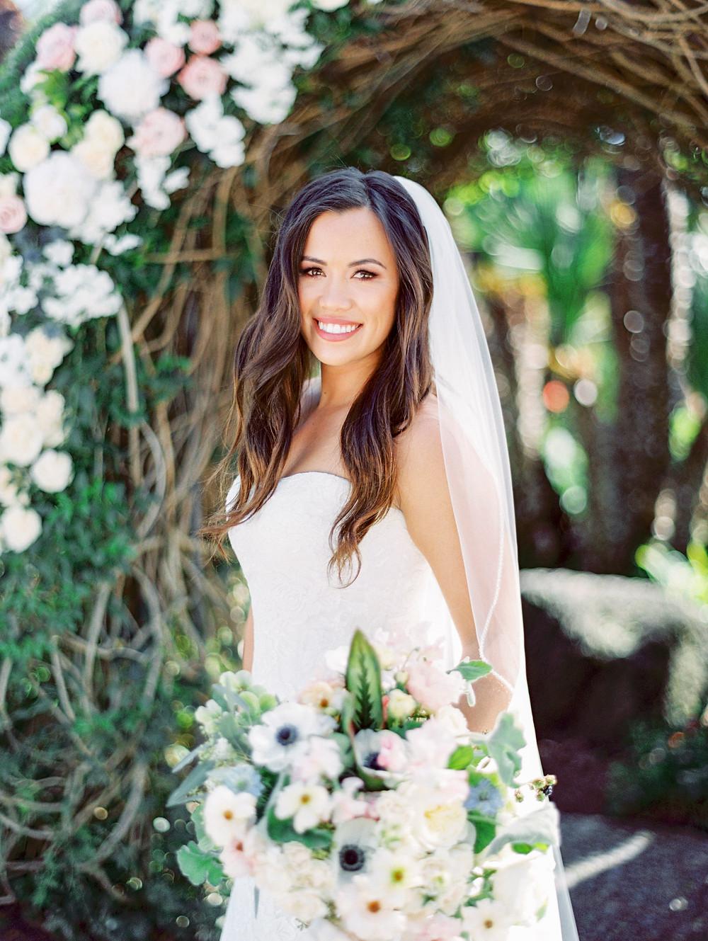 bride at Humphrey's Half Moon Inn wedding