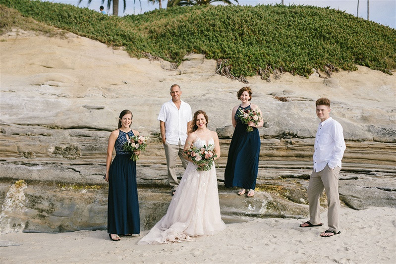Elise + Sean's Intimate Wedding at Cuvier Park (Wedding Bowl) in La Jolla, CA