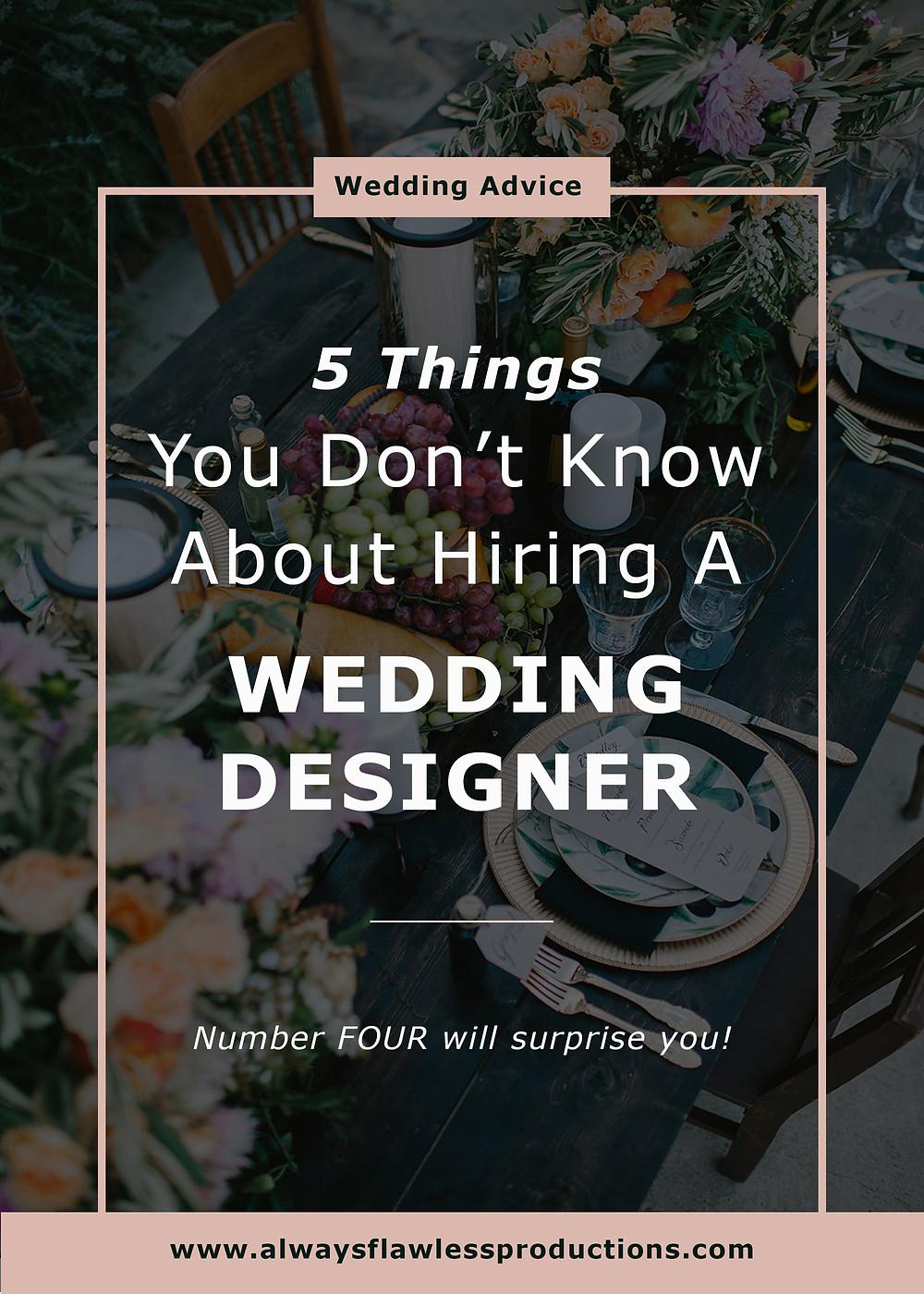 Wedding Designer: Why you need a wedding stylist
