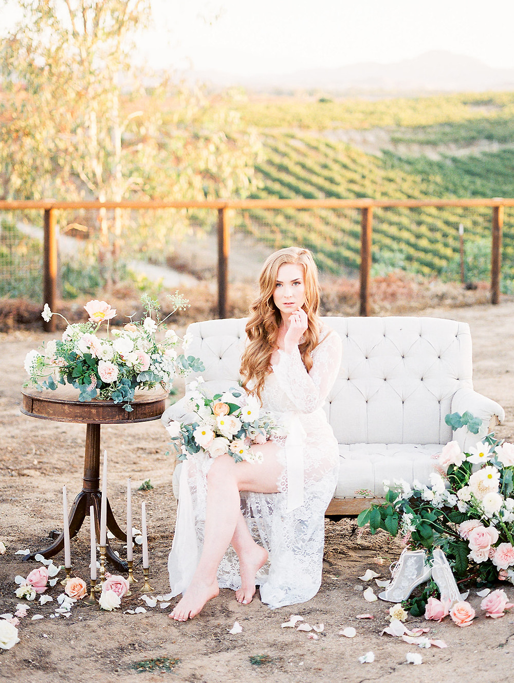 Romantic and Classy Wedding Boudoir Bridal Session