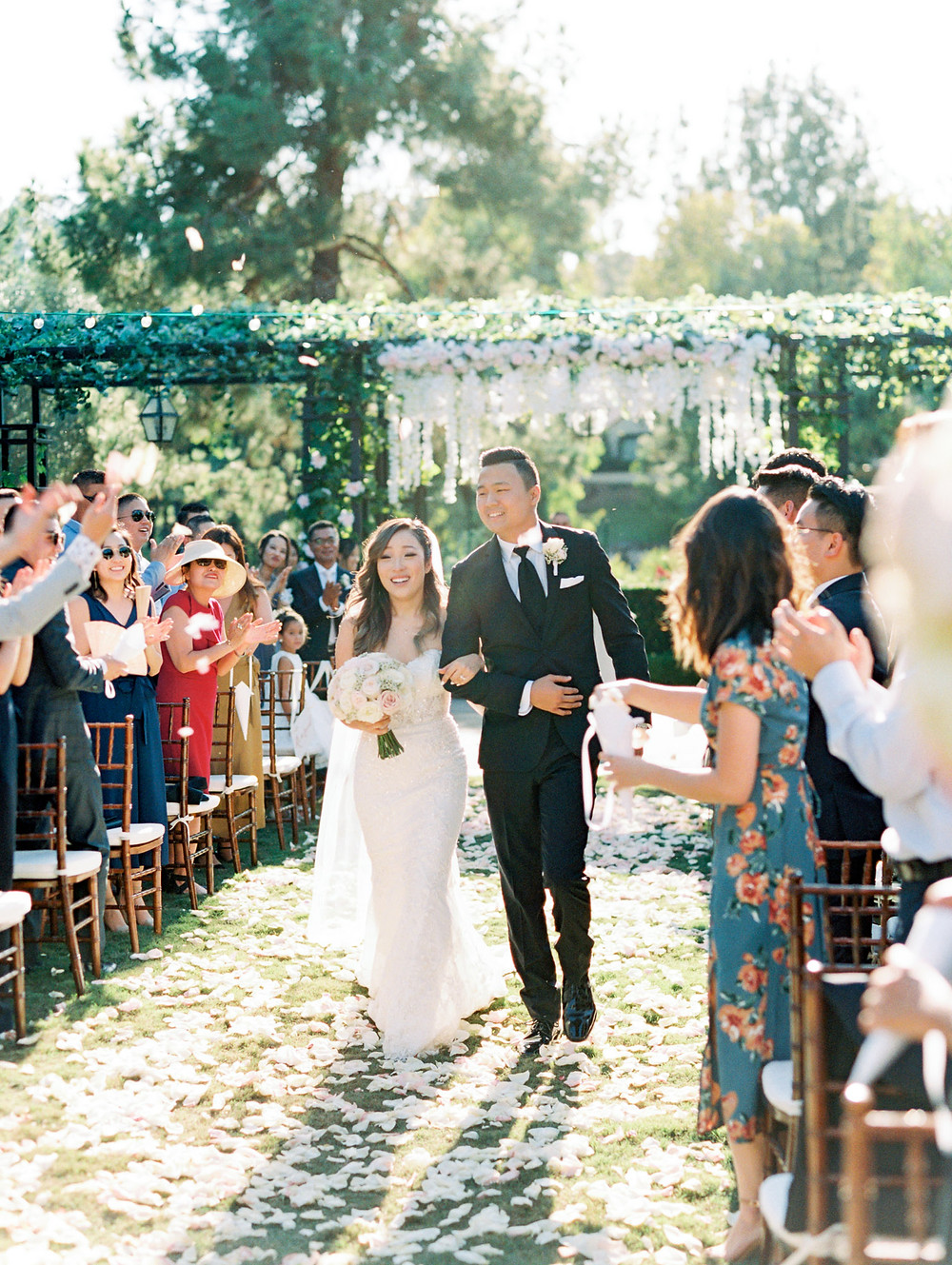 Esther + Yoon's Garden Wedding At Rancho Bernardo Inn in San Diego, CA