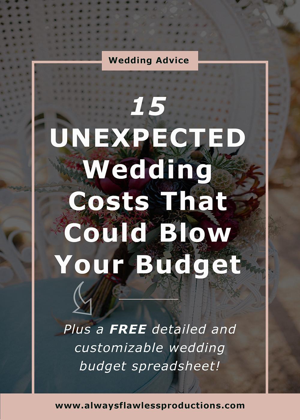 Wedding Budget: Unexpected Wedding Costs