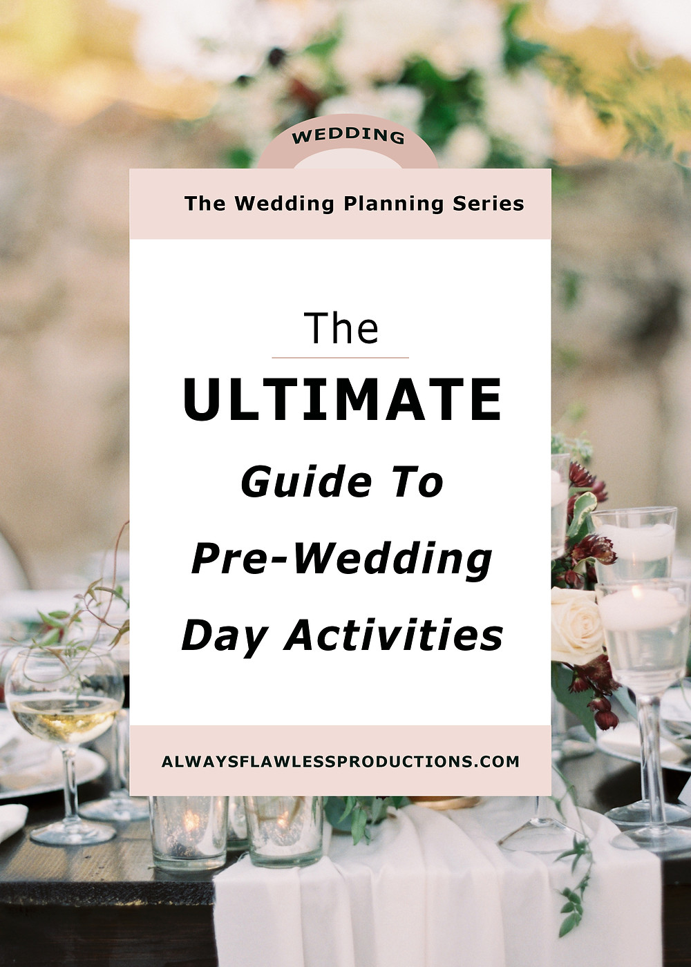 ultimate pre-wedding list