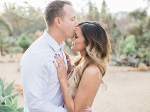 Engagement Photos: Haydee & Ben's Romantic Desert Engagement Session