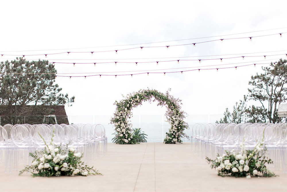 outdoor ceremony location for L'Auberge Del Mar wedding