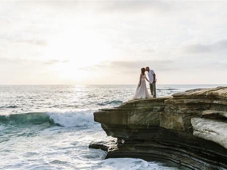 Elise + Sean's Intimate Beach Micro Wedding In La Jolla, CA