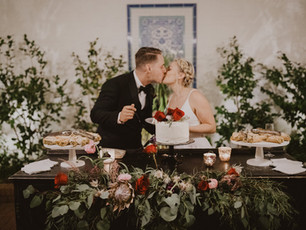 Bridget + Vincent's Winter Garden Wedding At The Darlington House | La Jolla, CA