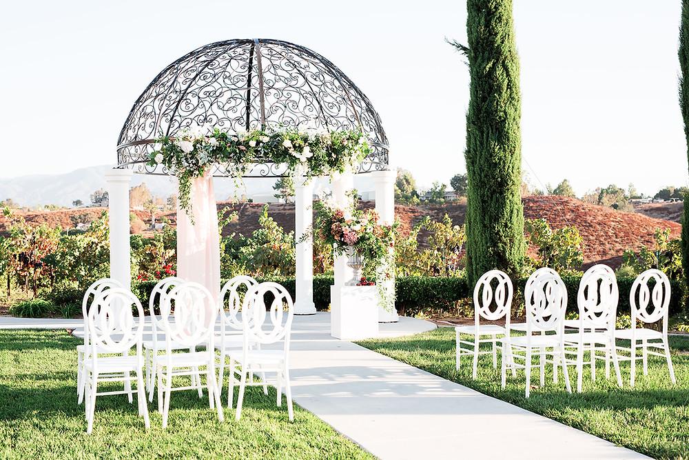 Avensole Winery Wedding outdoor ceremony location