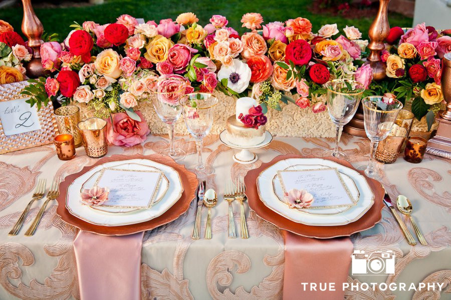 Fairmont Grand Del Mar wedding sweetheart table