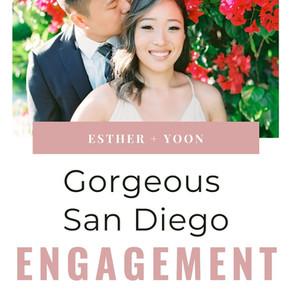 Esther + Yoon: Gorgeous San Diego Engagement Photos