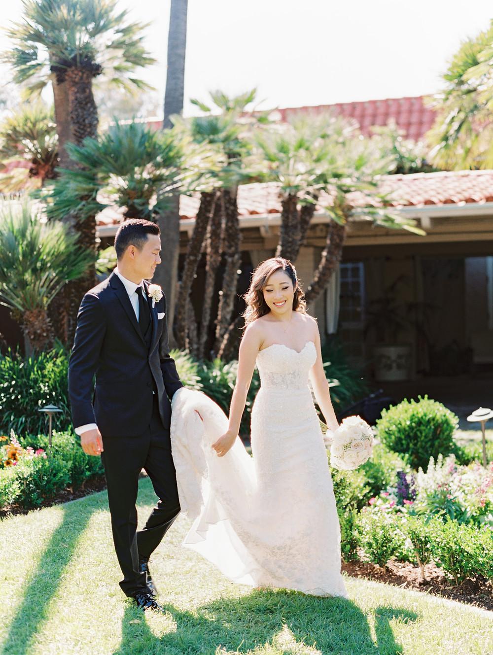 Esther + Yoon's Garden Wedding At Rancho Bernardo Inn in San Diego, CA