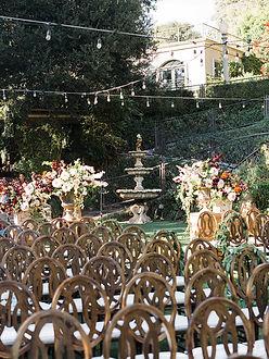 luxury destination wedding in a garden