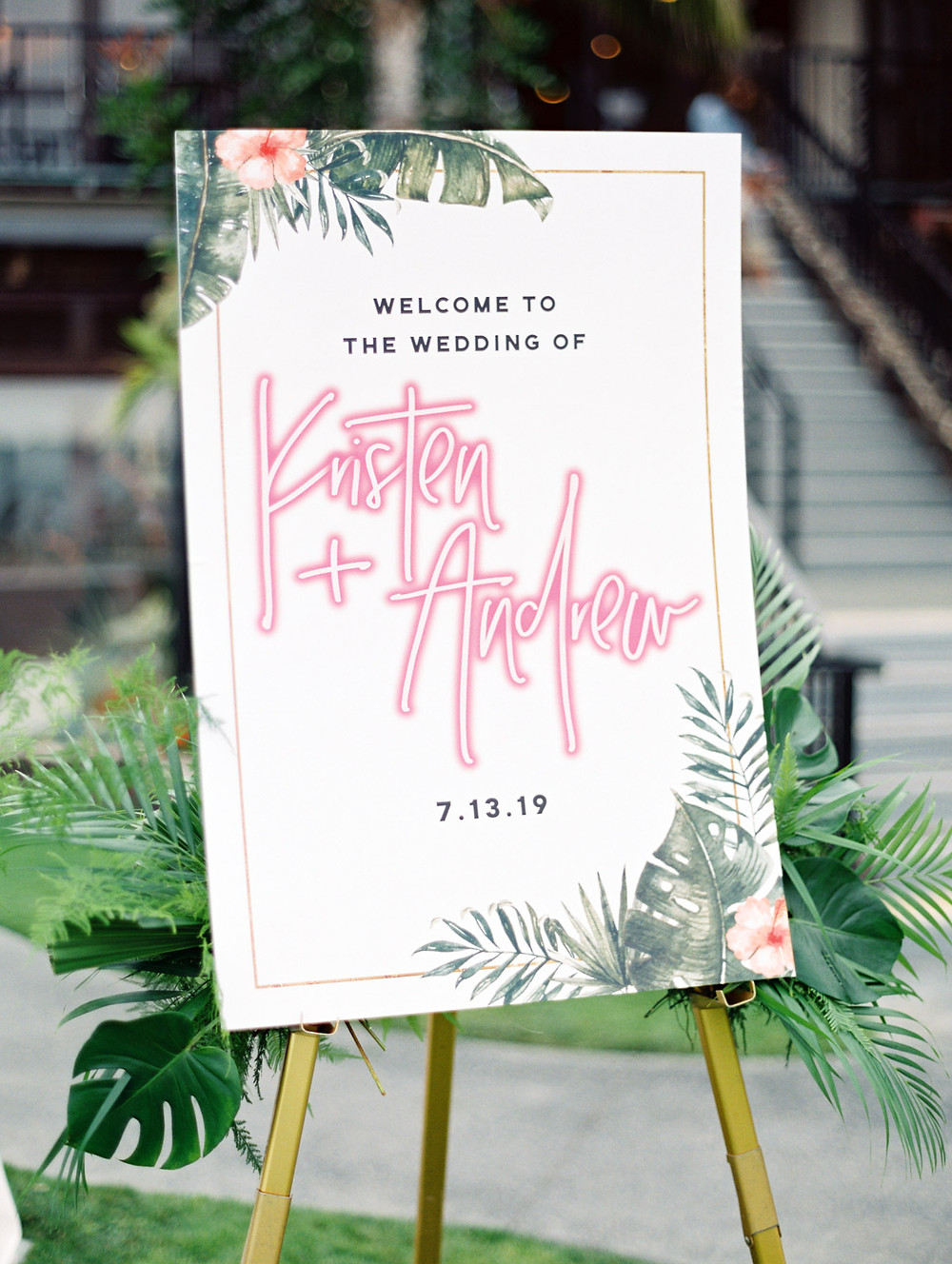 Kristen and Andy's Modern Tropical Beach Wedding at the Catamaran Resort Hotel in San Diego, CA