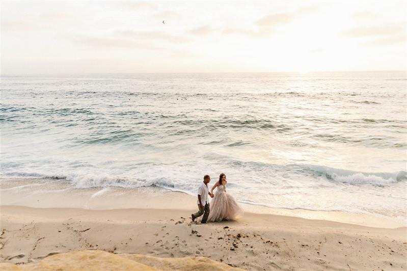 Elise + Sean's Intimate Wedding at Cuvier Park (Wedding Bowl) in La Jolla, CA