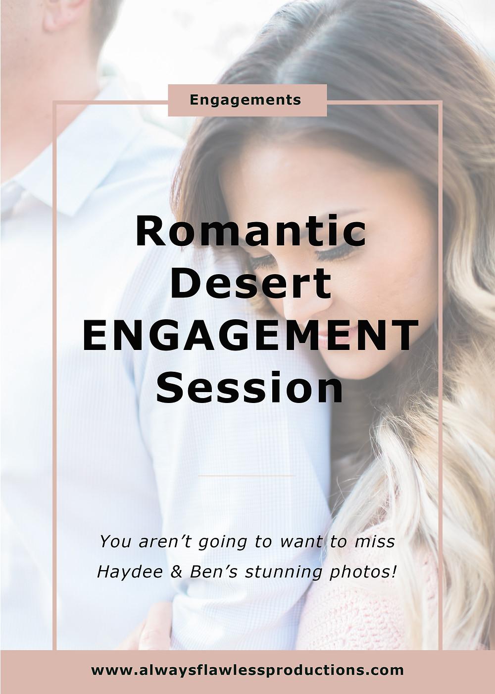 Engagement Photos - Desert Engagement Session