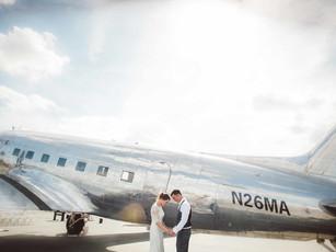Real Wedding: Kelsey + Kendall's Vintage Hemet Airport Wedding | San Diego, CA