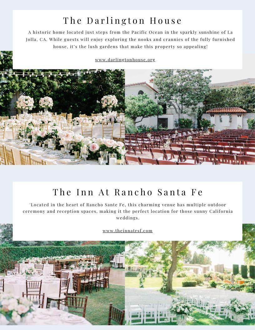 Garden Wedding Venues In San Diego, CA