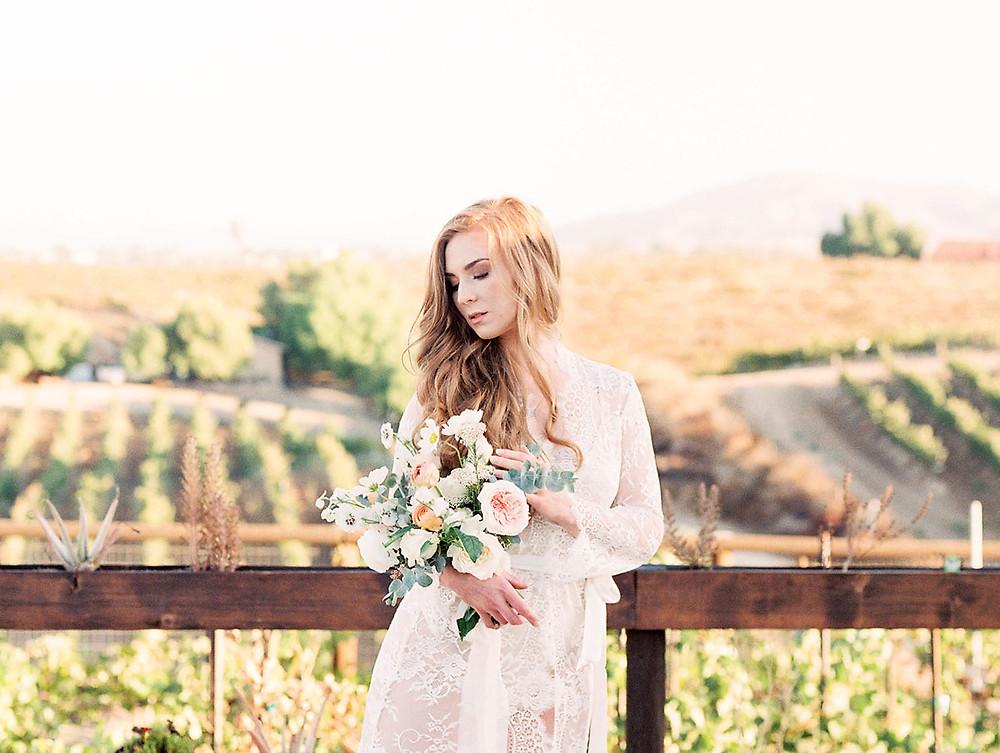 Romantic Sunrise Wedding Boudoir Bridal Shoot