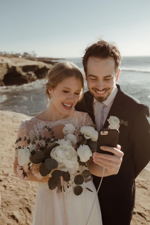 Bride and Groom Facetiming