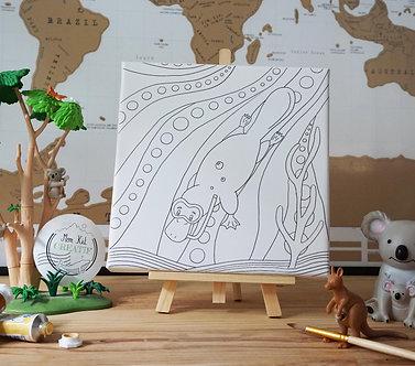 Le Platypus plongeur - Ma toile créative