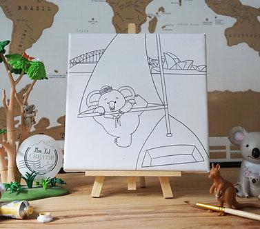 Le Koala skipper - Ma toile Créative