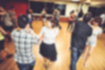 Cuban Salsa with partner is a fun Latin dance with intricate patterns of arms and body movement.