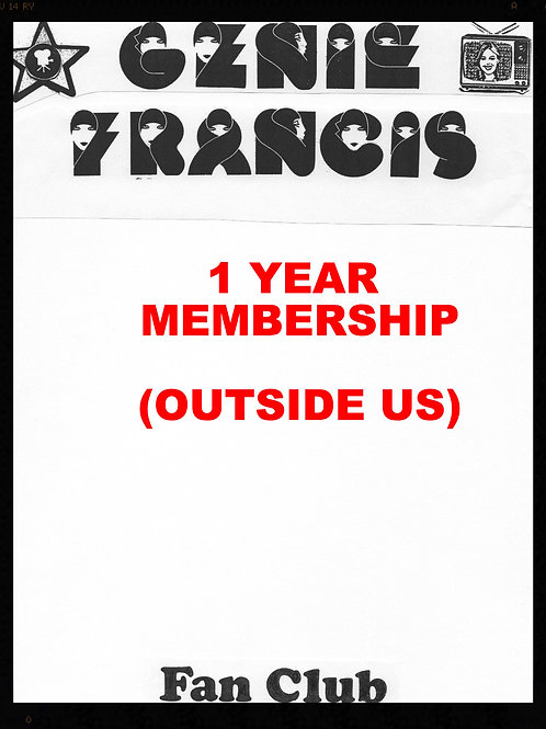 Fan Club Membership 1 Year- Outside US