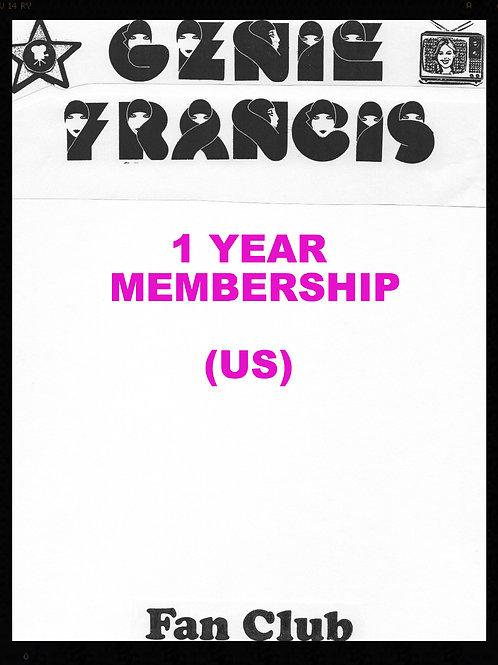 Fan Club Membership 1 Year- United States