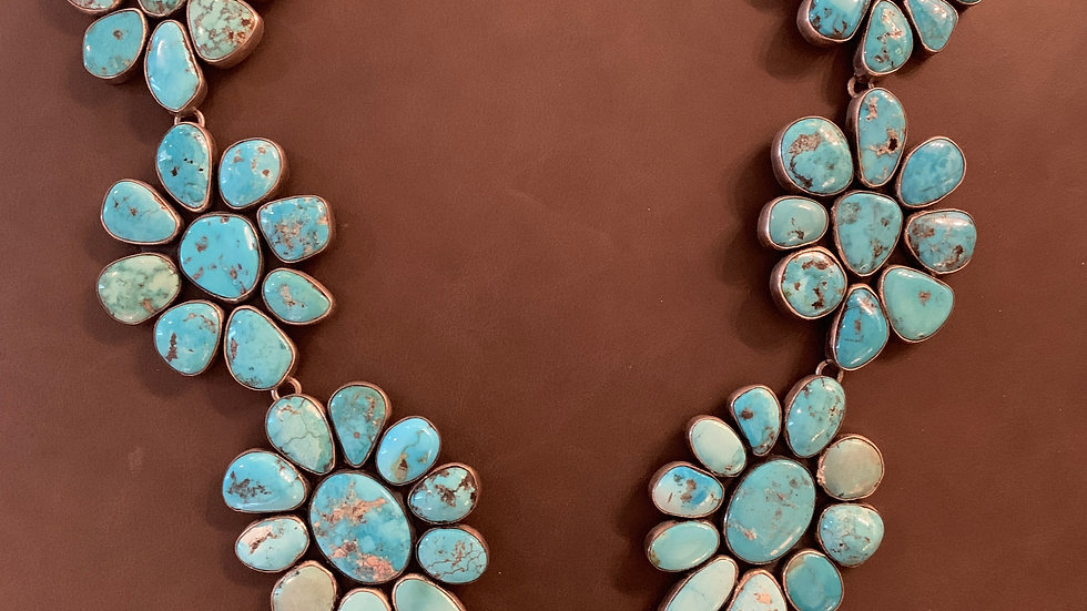 Federico Turquoise Cluster Necklace