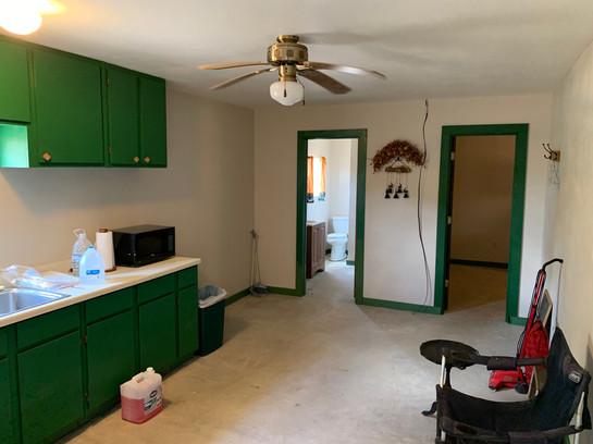 Kitchen and den