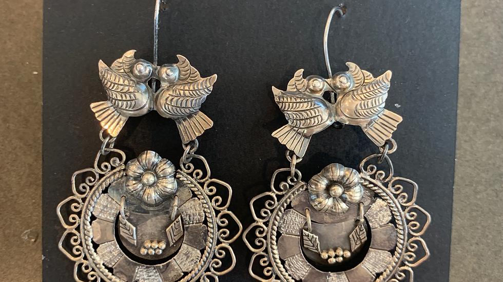 Federico Dove Silver Earrings