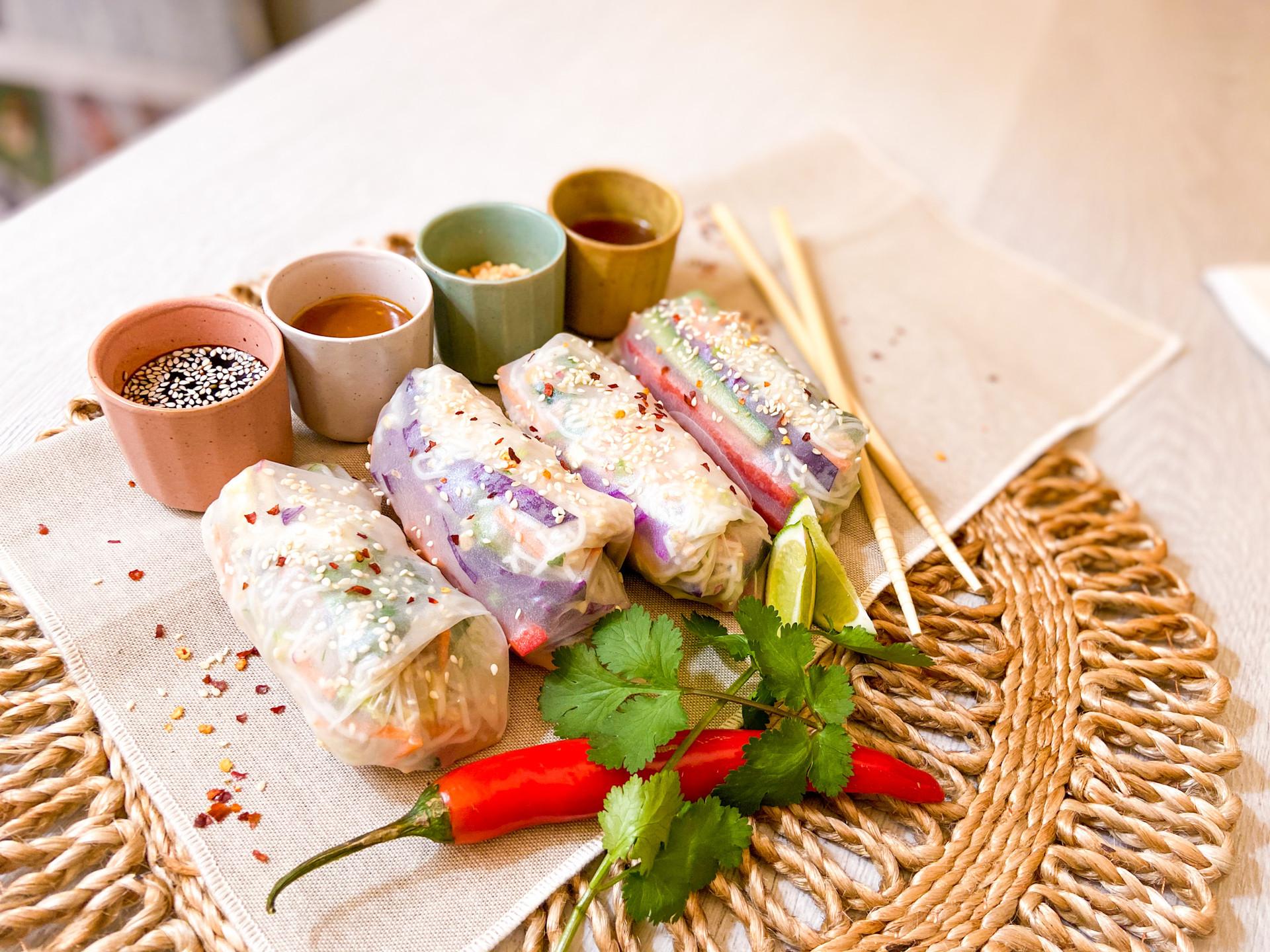 Vietnamese Noodle Salad rice rolls