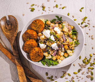 Roast Cauliflower, Date and Chickpea Naked Salad