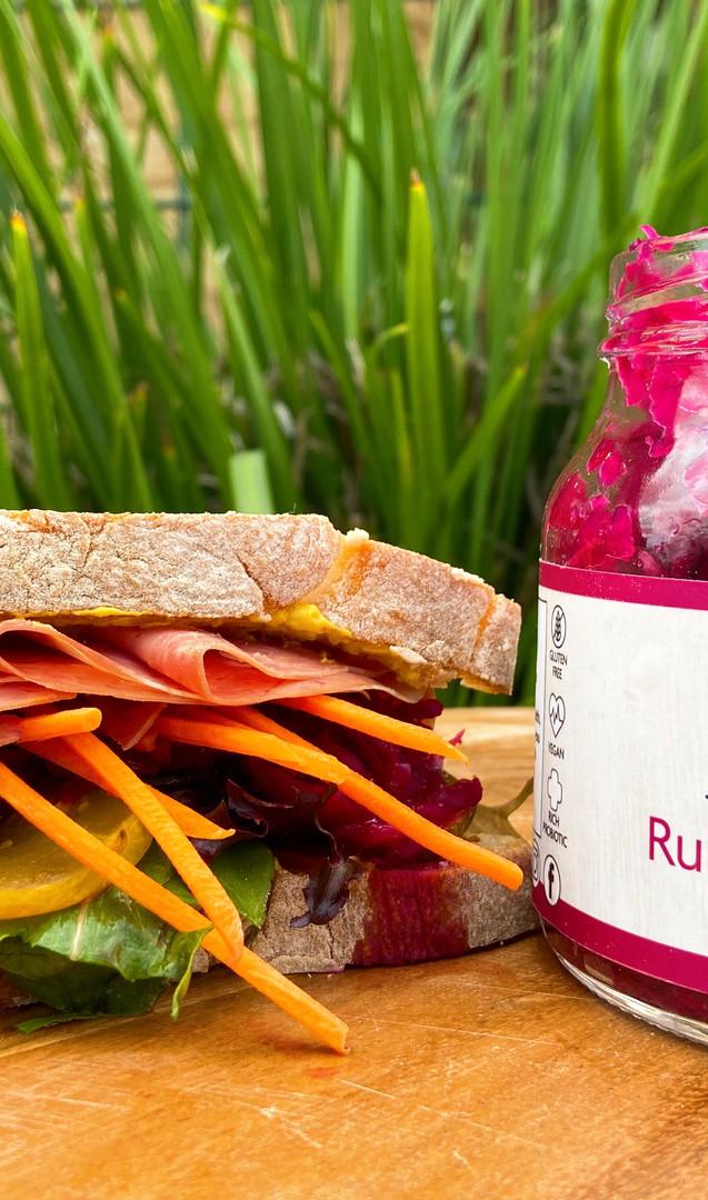 Ruby Beetroot Kraut Sandwich