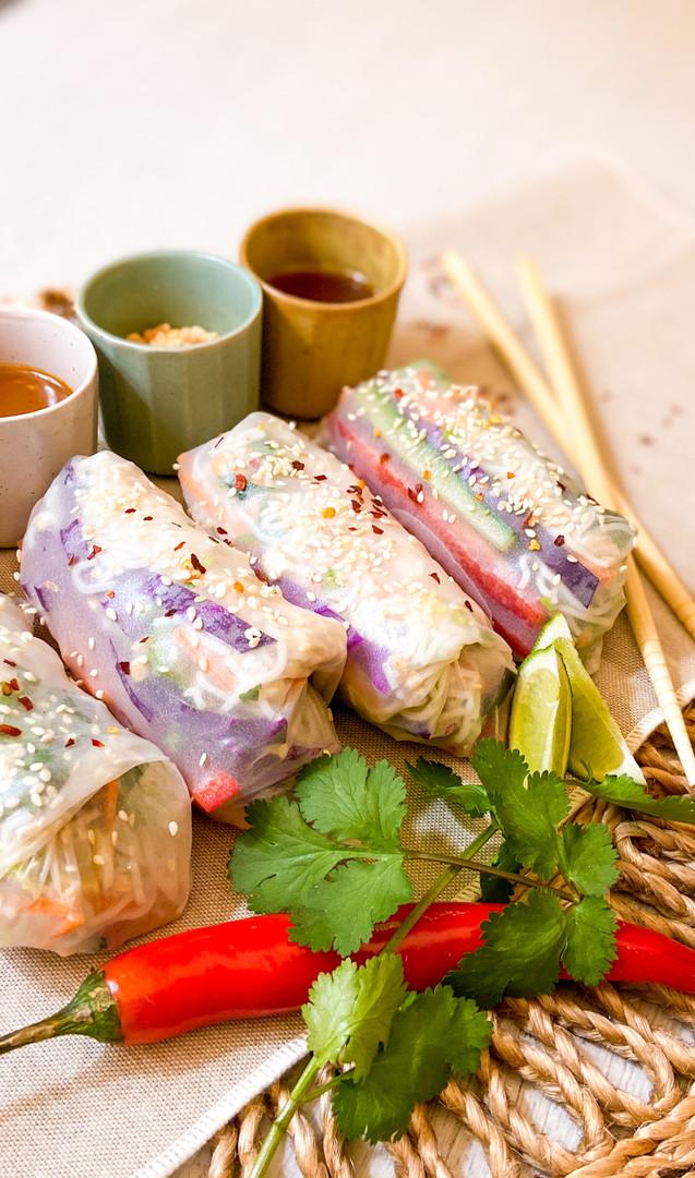 Vietnamese Noodle Salad Rice Paper Rolls